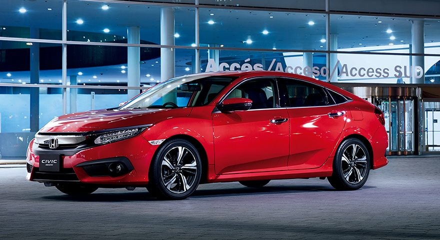 Japan-model Civic Sedan includes a newly developed Yachiyo plastic fuel tank