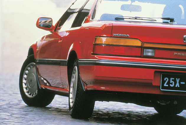The 1987 Prelude Featuring World S First Steering Angle Sensing 4ws
