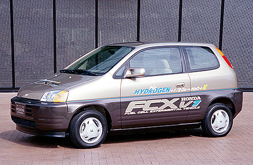 Honda Introduced The Fcx V1 And V2 Two Electric Vehicle Prototypes Ed By Fuel Cells In September 1999