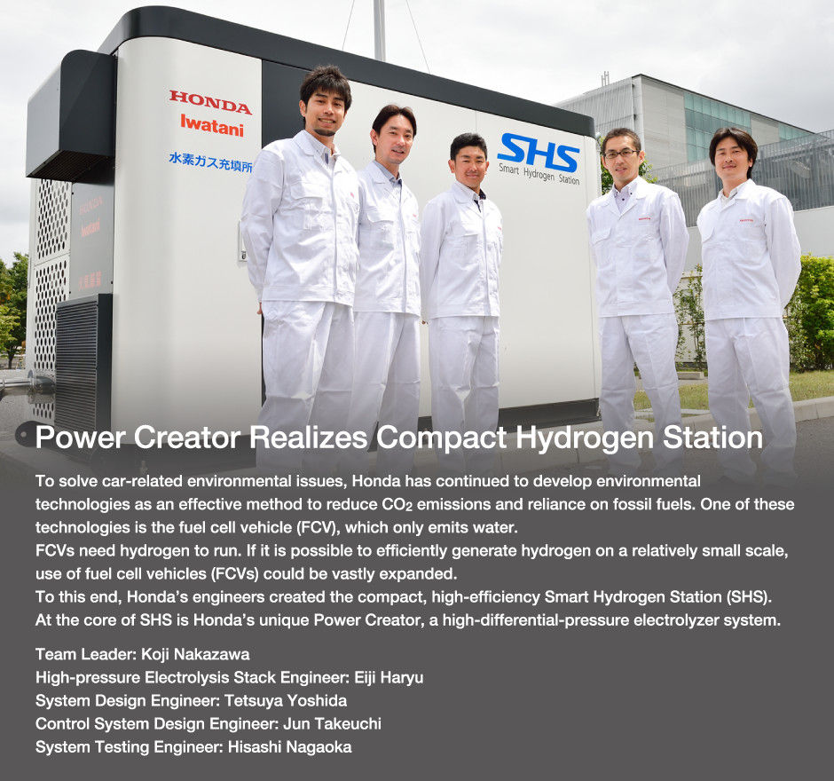 Power Creator Realizes Compact Hydrogen Station