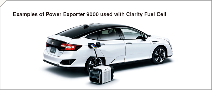 Examples of Power Exporter 9000 used with Clarity Fuel Cell