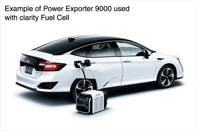 Example of Power Exporter 9000 used with clarity Fuel Cell