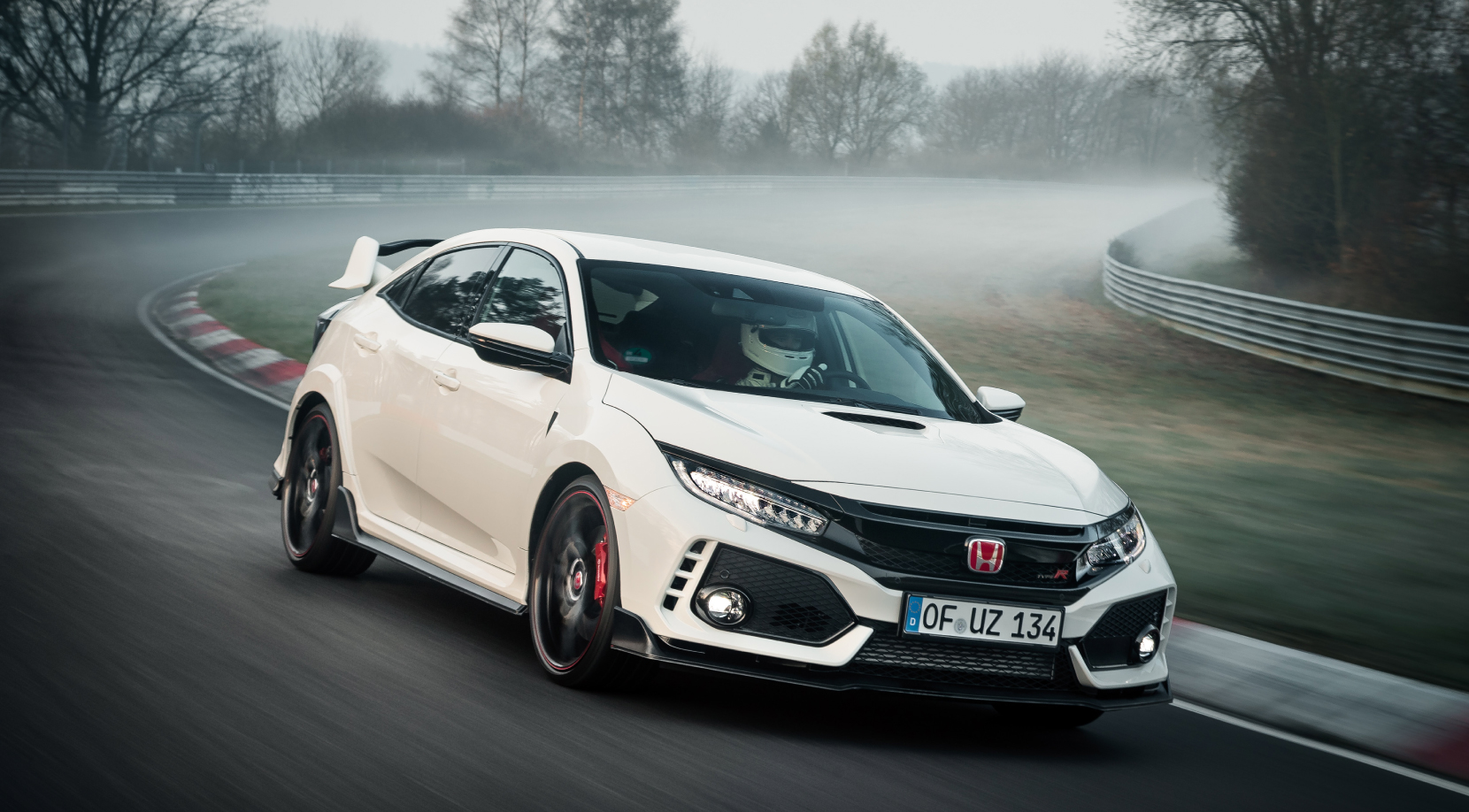 Civic Type R sets fastest front-wheel drive lap at the Nürburgring *  (Honda research as of April 2017