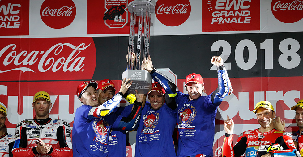 F.C.C. TSR Honda France Wins FIM Endurance World Championship Title