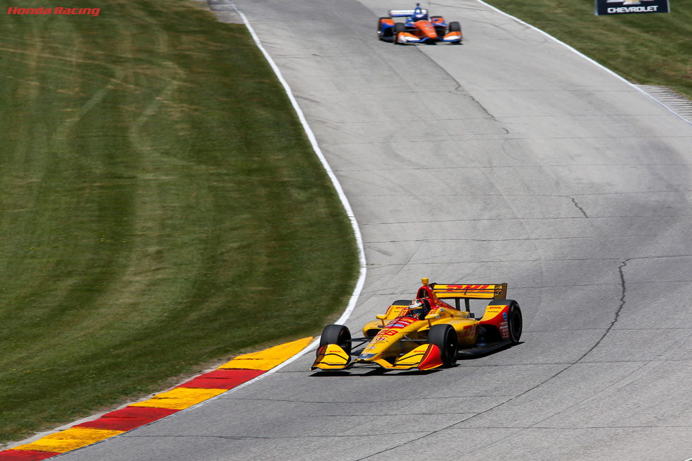 Podium Results for Hunter-Reay, Dixon at Road America