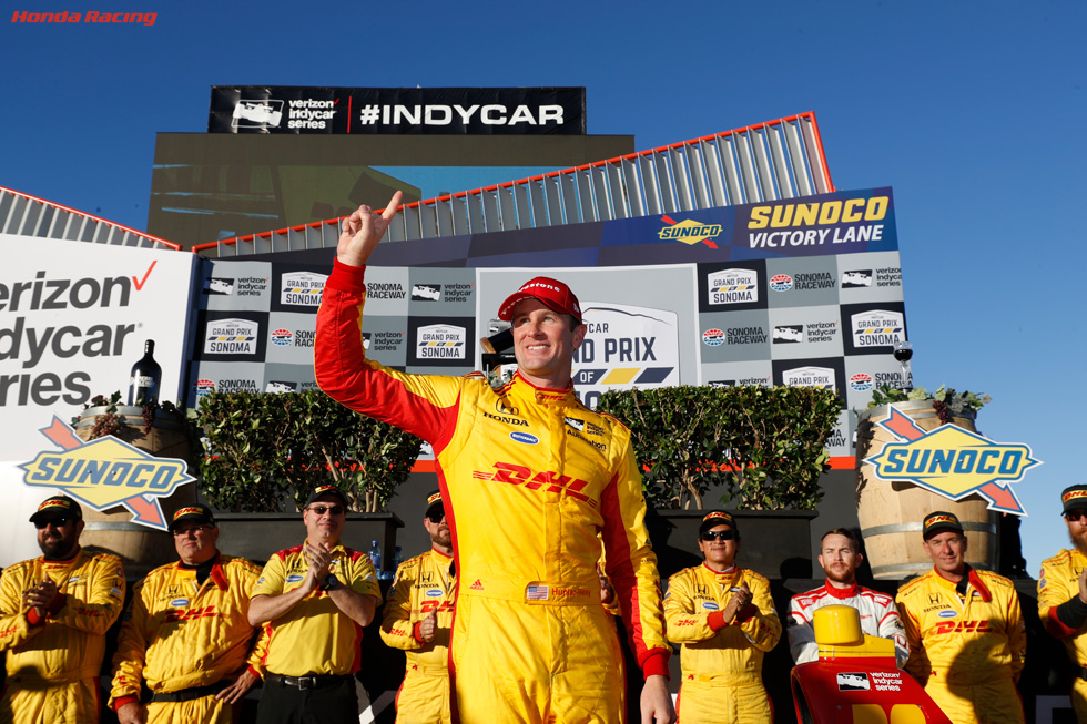 Hunter-Reay Takes Sonoma Win; Dixon, Honda Claim Indy Car Titles