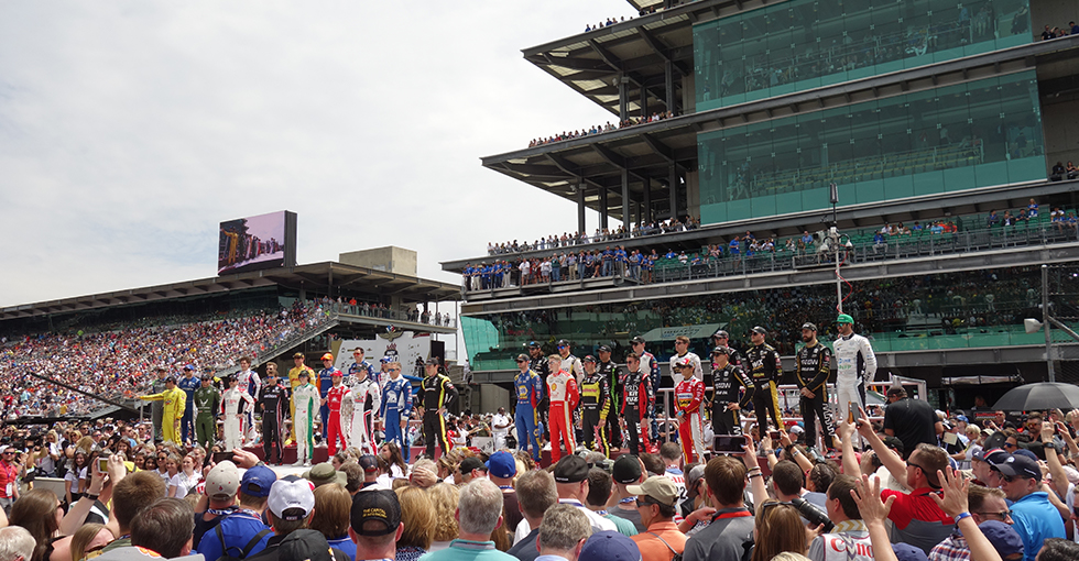 Rossi Runs Second For Honda at Indianapolis 500