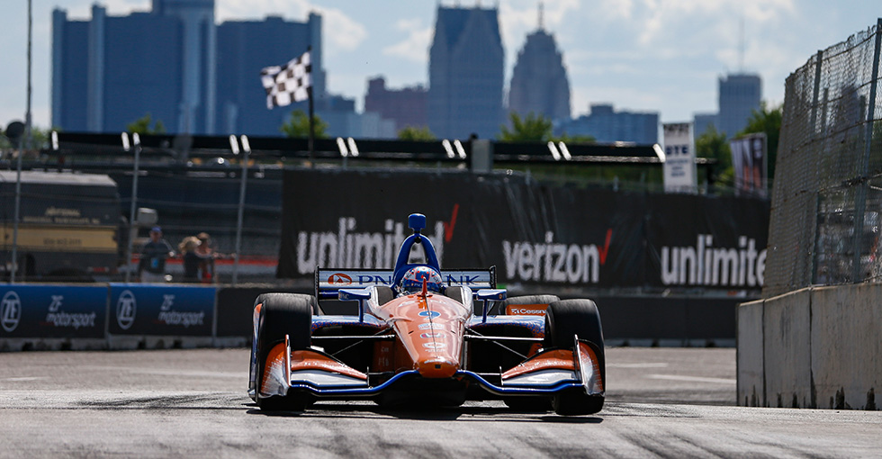 Dixon, Ericsson Run 1-2 for Honda in Detroit