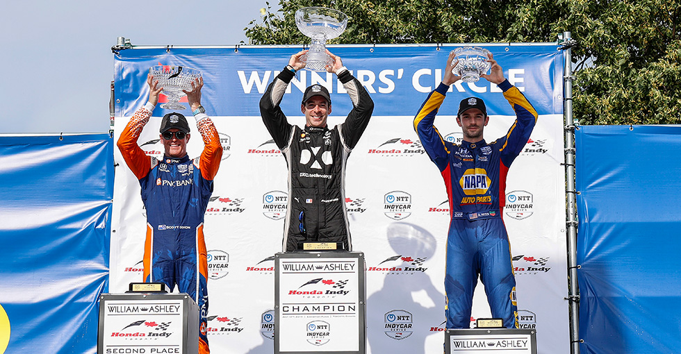 Podium Finishes for Dixon, Rossi at Honda Indy Toronto