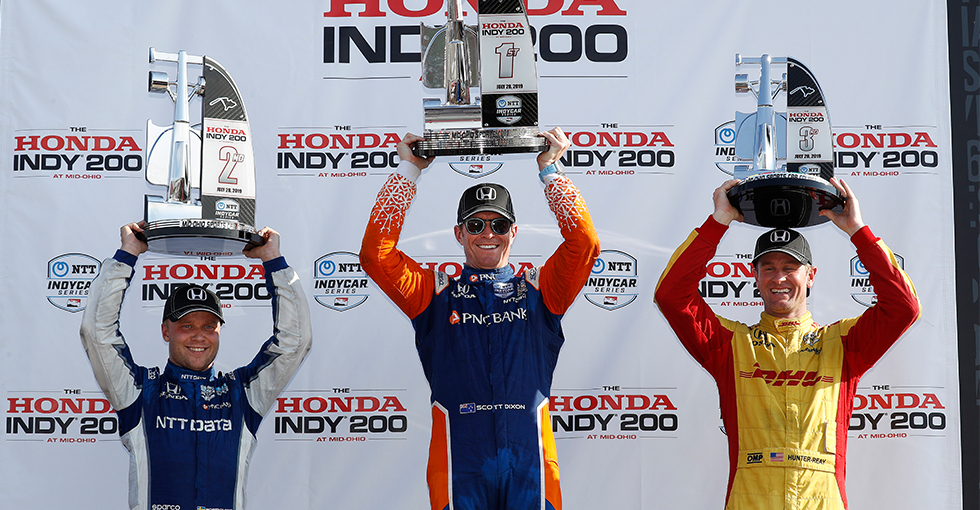 Dixon Leads Honda Podium Sweep at Mid-Ohio
