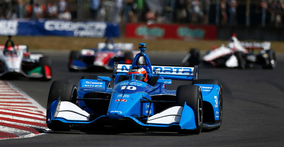 Rosenqvist Runs Second for Honda in Portland