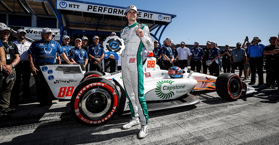 Herta Leads Honda Sweep Indy Car Qualifying in Monterey