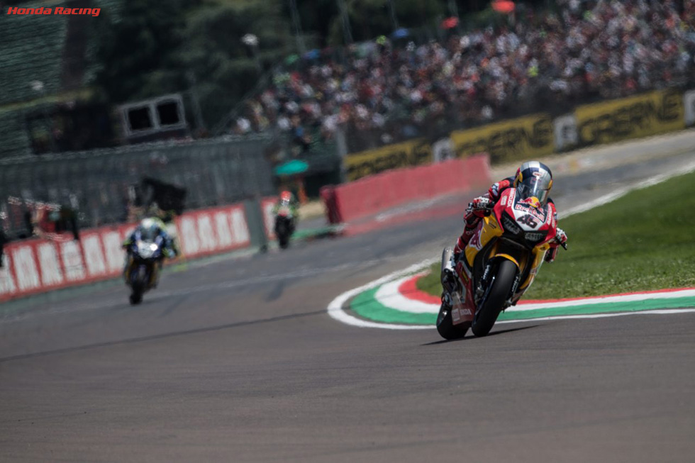 Gagne Retires from Imola Race 2 in Weekend to Forget for the Red Bull Honda World Superbike Team