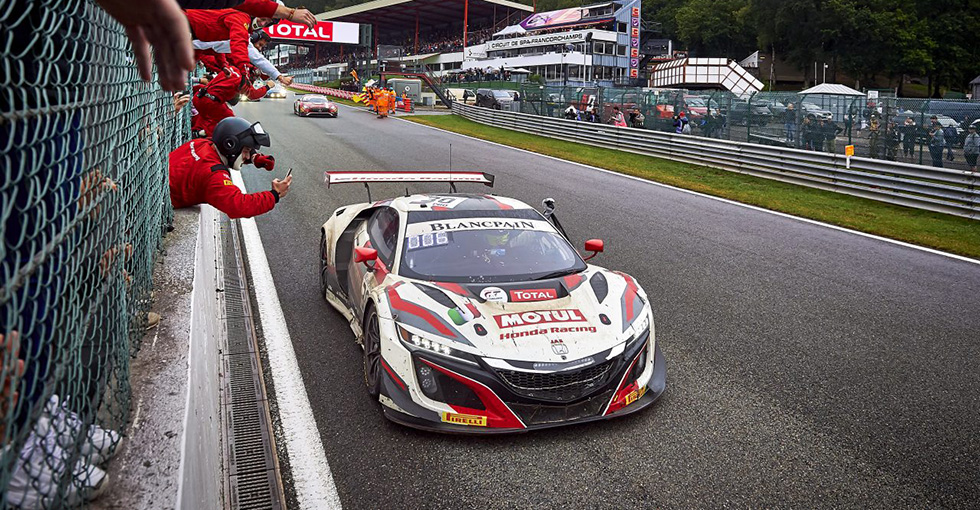 Honda Team Motul Score Superb Top-Six Finish in Grueling 24 Hours of Spa