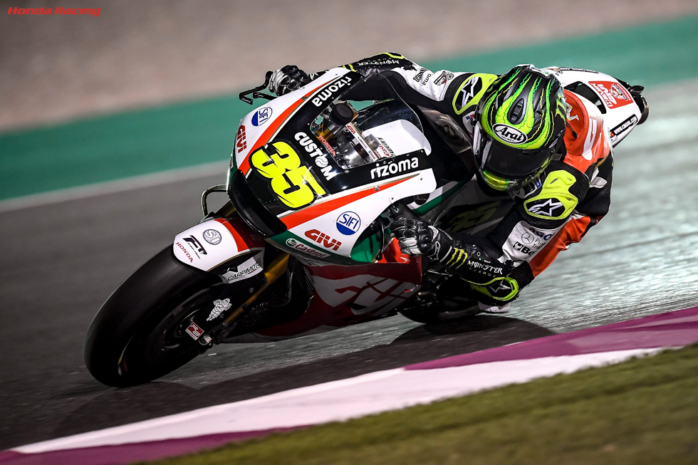 Crutchlow Leads Honda Charge at Final Preseason Test