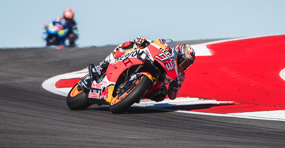 Marquez's Dominant Performance Ended by Slow-speed Tumble