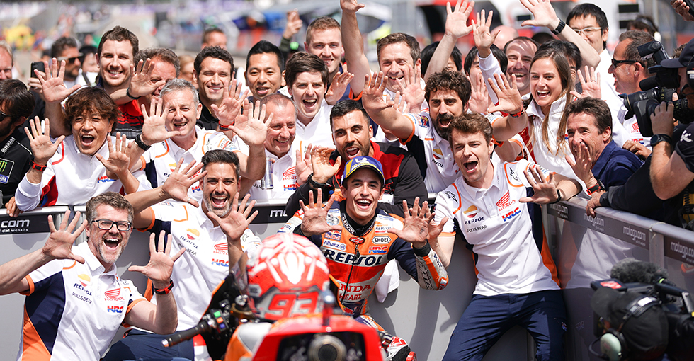 Marquez Scores Perfect Ten at the Sachsenring