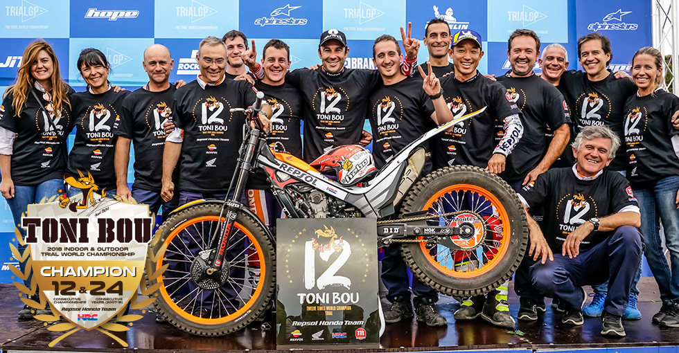 Toni Bou Wins 12th Consecutive FIM Trial World Championship Title