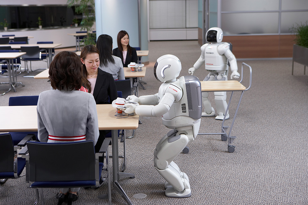 Honda Develops Intelligence Technologies Enabling Multiple ASIMO Robots to Work Together in Coordination