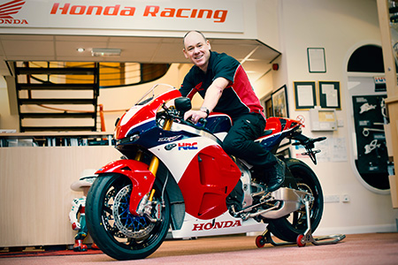 World's first customer delivery of the Honda RC213V-S takes place at Honda's UK racing headquarters