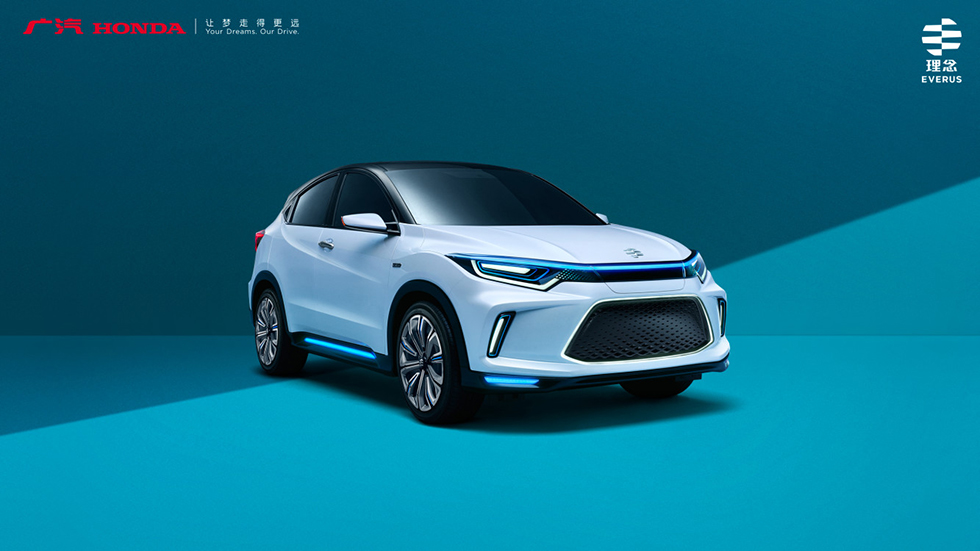 Honda Exhibits World Premiere of Everus EV Concept, Concept Car of the China-exclusive EV model, at the 2018 Beijing International Automotive Exhibition (Auto China 2018)