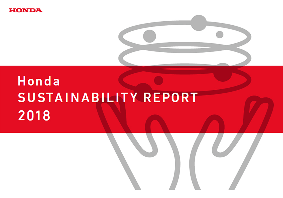 Front cover of Honda SUSTAINABILITY REPORT 2018
