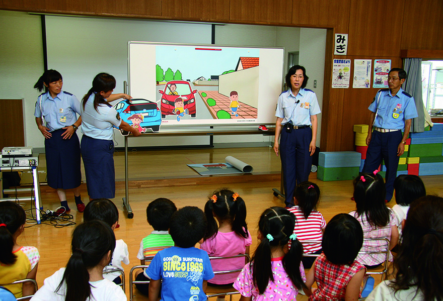 Offering traffic safety education back when the educational program for young children was developed for the first time