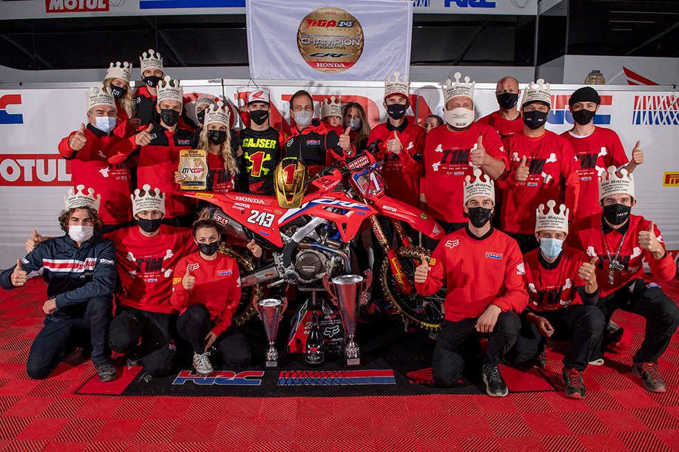 Tim Gajser Wins Back-to-Back FIM Motocross World Championships