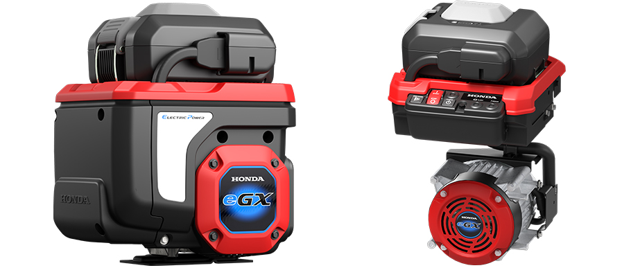 Honda eGX electrified power unit for small-sized work equipment (Left: Integrated type/ Right: Separated type)