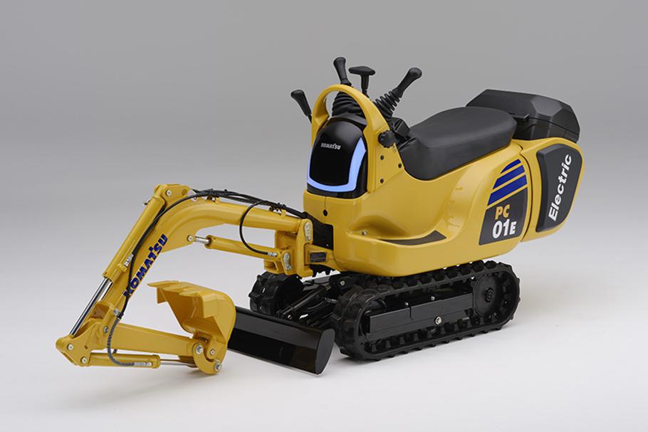 (Prototype) Komatsu micro excavator PC01 powered by Honda Mobile Power Pack