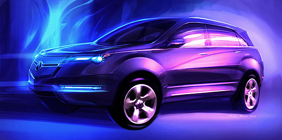 Honda Global March 27 2006 Acura To Debut New Mdx Concept At