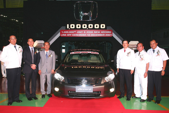 Honda rolls out 1,000,000th vehicle made in Thailand
