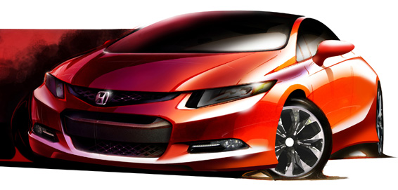 Honda Civic Concept to Make World Debut at North American International Auto Show