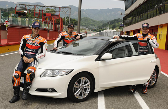 Honda CR-Z, the world's first sporty hybrid, promoted by HRC stars