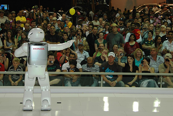 New ASIMO attends the 2011 Johannesburg Motor Show