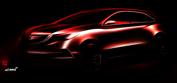 Acura to Debut the All-New 2014 MDX Prototype at the 2013 North American International Auto Show
