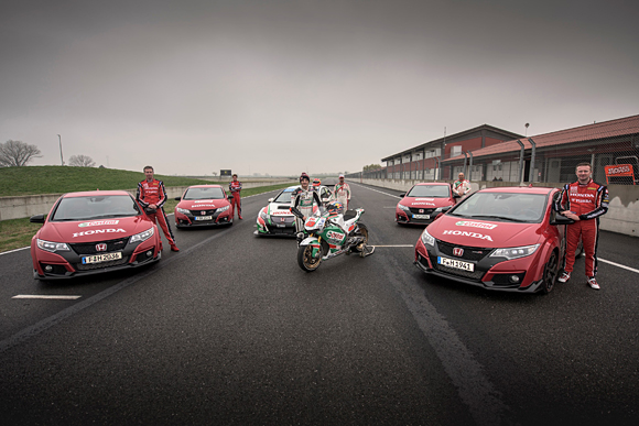 New 360-degree Film Featuring Honda MotoGP Motorcycle vs Civic Type R vs Castrol Honda Touring Car