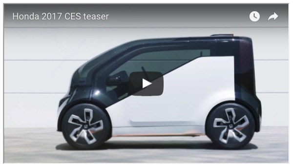 "Honda Previews ""Cooperative Mobility Ecosystem"" Ahead of CES 2017"