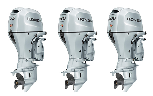 New Honda Marine BF75, BF90 and BF100 Outboard Motors Sport a Fresh New Style, New Rigging Components and Easier Maintenance Functions Boaters Will Appreciate