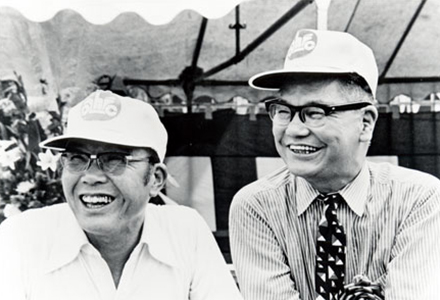 "Soichiro Honda did the building and Takeo Fujisawa did the selling. Honda developed into the world's largest motorcycle manufacturer due to the extraordinary meshing of these two big wheels. In the shadows, advertising also played a major supporting role in the Super Cub's success. ""Honda and Fujisawa were never arrogant or overbearing,"" Ogata recalled."
