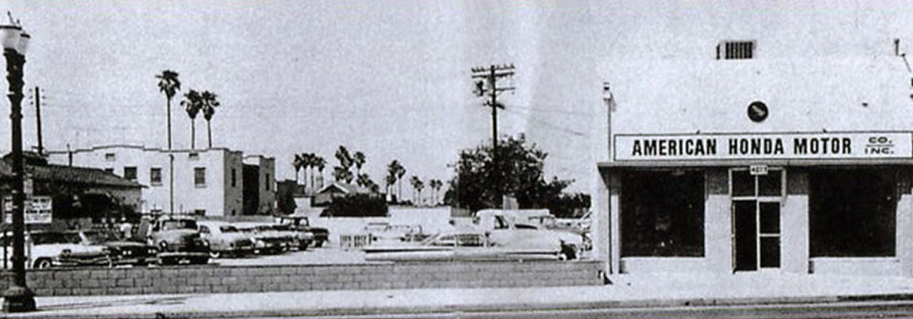 In June of 1959, Honda's first overseas subsidiary, American Honda Motor Company, was established on W. Pico Blvd. in Los Angeles.